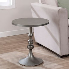 Side Tables And Accent Tables Bailey Steel Grey Accent Table