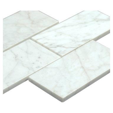 All Marble Tiles - Bianco Carrara 3x6 Polished Marble Subway Tile - Bianco Carrara 3x6 Polished Marble Subway Tile