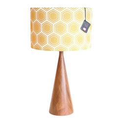 "Mood Design Studio - Black Walnut Table Lamp ""Crosby"" - This statuesque table lamp was designed by Canadian designer, Nicole Duff, of Mood Design Studio."
