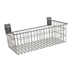 Storewall - Heavy Duty Deep Basket w/camLok - storeWALL Heavy Duty baskets are made to withstand daily use and abuse. Baskets are powder coated for a long life. Heavy gauge industrial grade steel is used throughout.