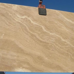 Royal Stone & Tile Slab Yard in Los Angeles - Peruvian Noce Travertine Honed from Royal Stone & Tile in Los Angeles