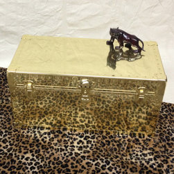 Coffee Table - Brass Polished Metal - Trunk's Finely Crafted Coffee Table. Perfect for your living room!