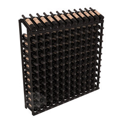 Wine Racks America - 144 Bottle Display Top Wine Rack in Redwood, Black Stain - Present 12 of your best bottles label up for easy appreciation. Display top wine racks are perfect for commercial or residential environments as they match our modular rack specifications. Engineered to be rock solid, we guarantee it will last. Designed to be elegant, you'll love these racks. We guarantee it.
