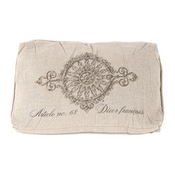 """Zentique - French Pillow, """"Article No.68 Decor Francais"""" - The French Pillow collection features a natural linen pillow with variations to choose from."""