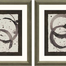 Paragon Decor - Astro Burst I Set of 2 Artwork - Giclees are hand deckled and float mounted with white matting.