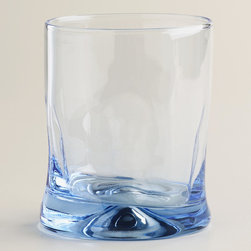 Blue Impressions Double Old-Fashioned Glasses, Set of 4 - A set of these icy, icy blue old-fashioned glasses would be an easy way to kickstart your barware collection. Priced at $8 for a set of four, they're a hard-to-pass-by deal.
