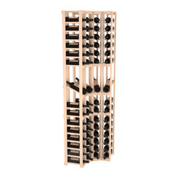 Wine Racks America® - 4 Column Display Cellar Corner in Pine, Satin Finish - Unique corner wine racks obtain maximal storage capacity with style. Display 4 coveted vintages without sacrificing proper wine storage. We back the quality of every rack with our lifetime warranty. Designed with emphasis on functionality, these corner racks fit seamlessly into our modular line of wine racks.