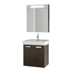 ACF - 23 Inch Wenge Bathroom Vanity Set - Complete your decorator personal bathroom with this luxury bathroom vanity from ACF.