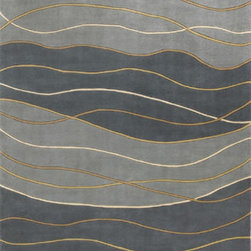 "KAS - KAS Signature 9142 Waves (Seaside) 2'6"" x 8' Rug - Turn your heads to our Signature Collection and discover fresh waves of color, originality and style. Hand-tufted in China of 100% quality wool, our Signature rugs present a variety of color palettes as well as portray originality in style and design. These rugs are available in an array of unique contemporary patterns that makes this our most exciting and popular collection yet. No fringe."
