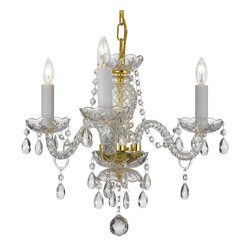 Crystal Chandelier Lighting 13H X 12W 3 Lights Fixture Pendant Ceiling Lamp - A Great European Tradition. Nothing is quite as elegant as the fine crystal chandeliers that gave sparkle to brilliant evenings at palaces and manor houses across Europe. This unique version from the Royal Collection features glass tube arms.The timeless elegance of this chandelier is sure to lend a special atmosphere anywhere it is placed!