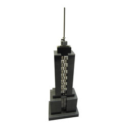 MR Brick Designer - USB Powered LED Skyscraper Desk Light Ornament - Light up your desk or nightstand with this Skyscraper-themed desk light based on the Empire State Building!