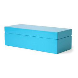 Lacquer Stash Box - I like the idea of having some boxes on a desktop in matching colors for extra storage but without the look of clutter.