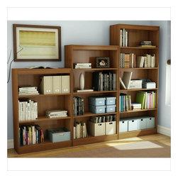 South Shore - South Shore 3 Piece Bookcase Set in Morgan Cherry - South Shore - Bookcases - 7276766PKG