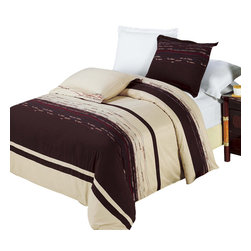 Bed Linens - Clarice Egyptian cotton Embroidered Duvet Cover Set King-California King - You are invited to experience the comfort, luxury and softness of our luxurious Embroidered duvet covers. Silky Soft made from 100% Egyptian cotton with 300 Thread count woven with superior single ply yarn. Quality linens like this one are available only at selected Five Stars Hotels.