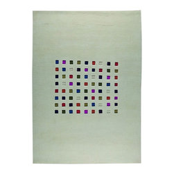MA Trading - Contemporary Mosaik 9'x12' Rectangle White-Multi Color Area Rug - The Mosaik area rug Collection offers an affordable assortment of Contemporary stylings. Mosaik features a blend of natural White-Multi Color color. Hand Knotted of 90%Wool  10%Cotton the Mosaik Collection is an intriguing compliment to any decor.