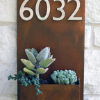 "Urban Mettle - 12"" x 20"" Handmade wall planter & address plaque by Urban Mettle"