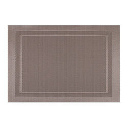 KAF Home - Moderne Champagne Placemat, Set of 4 - Featuring a simple, yet elegant, design, the Moderne placemat offers the perfect complement to the modern kitchen. Two-toned shades of earthy colors provide a sense of formality to the dining table.