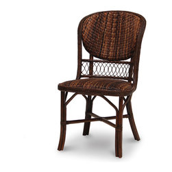 Palecek - Havana Weave Side Chair - Pole rattan frame and legs. Havana sweater weave front, back, and seat. Coil weave trim. Available only as shown.