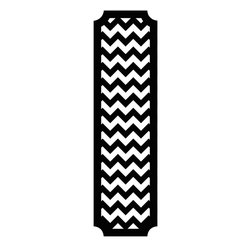 RoomMates - Black and White Chevron Peel and Stick Deco Panel - Add a dramatic touch to any space with this black and white chevron decorative panel. The panel is removable and repositionable creating a quick and easy way to decorate a bedroom, apartment or dorm room. To apply, slowly peel the decal from the backing and stick to any smooth, flat surface.