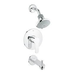 Grohe - Grohe Eurostyle Cosmospolitan Pressure Balance Shower/Tub Combination Trim - Grohe 35025002 Eurostyle Cosmospolitan Pressure Balance Shower/Tub Combination Trim, Chrome