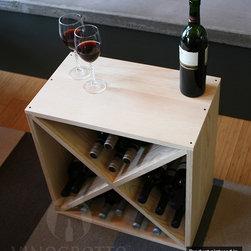 "24 Bottle Pine Wine Cellar Rack - Width 20""  Height 20""  Depth 12"""
