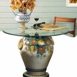 Artistica - Hand Made in Italy - Majolica: Table Base Orcio Frutta Pattern - Majolica Collection:
