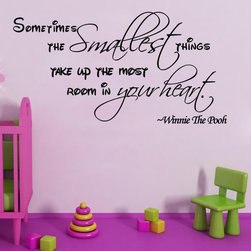ColorfulHall Co., LTD - Wall Decals For Kids Sometimes The Smallest Things Take Up The Most, Black - Wall Decals For Kids Sometimes The Smallest Things Take Up The Most