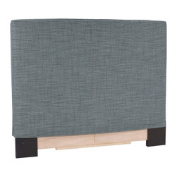 Howard Elliott - Coco King Slipcovered Headboard - The Slip covered Headboard is constructed with a sturdy wood frame that is padded for maximum comfort, making it solid yet cozy. This piece features a soft burlap sapphire blue cover.