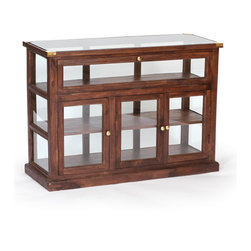 Shop Showcase with Euro Waxed Finish - Lovely Shop Showcase made from wood , glass and has euro waxed finish.Place it in living room,shop or any where you want sure it will give fantastic look.