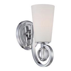 Quoizel Lighting - Quoizel ARH8701C Aldrich 1 Light Wall Sconce, Polished Chrome - Sconce polished chrome