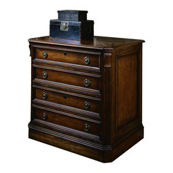 Hooker Furniture - Hooker Furniture Brookhaven Lateral File - Keep documents safe and organized with this Lateral File featuring two file drawers with locks on full extension steel ball bearing guides and anti-tilt mechanism making it a prefect addition to your home office. Features: Material: Hardwood Solids with Cherry Veneers. Style: Traditional. Two file drawers with locks on full extension steel ball bearing guides. Anti-tilt mechanism. Levelers. Finish: Distressed Medium Clear Cherry.