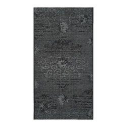 "Safavieh - Hayden Rug, Black / Grey 2' X 3'6"" - Construction Method: Power Loomed. Country of Origin: Turkey. Care Instructions: Vacuum Regularly To Prevent Dust And Crumbs From Settling Into The Roots Of The Fibers. Avoid Direct And Continuous Exposure To Sunlight. Use Rug Protectors Under The Legs Of Heavy Furniture To Avoid Flattening Piles. Do Not Pull Loose Ends; Clip Them With Scissors To Remove. Turn Carpet Occasionally To Equalize Wear. Remove Spills Immediately. Elegant Old World velvet motifs make a fashion statement for the floor in PALAZZO. A rich vintage look is achieved with a combination of lustrous and matte yarns in polypropylene and natural jute, and textural chenille for velvety pattern dimension."