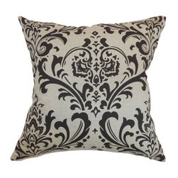 The Pillow Collection Olavarria Damask Pillow - To create a bold, classic look, simply toss the The Pillow Collection Olavarria Damask Pillow onto your sofa. Its black and white damask pattern makes it a sure way to add visual drama. This decorative pillow has a smooth cotton cover and sumptuous feather and down blend fill insert. Dry clean only.About The Pillow CollectionIdentical twin brothers Adam and Kyle started The Pillow Collection with a simple objective. They wanted to create an extensive selection of beautiful and affordable throw pillows. Their father is a renowned interior designer and they developed a deep appreciation of style from him. They hand select all fabrics to find the perfect cottons, linens, damasks, and silks in a variety of colors, patterns, and designs. Standard features include hidden full-length zippers and luxurious high polyester fiber or down blended inserts. At The Pillow Collection, they know that a throw pillow makes a room.
