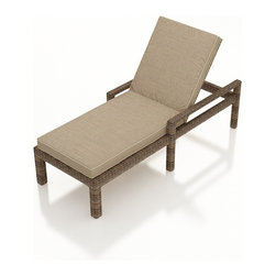 Forever Patio - Cypress Modern Adjustable Chaise Lounge, Spectrum Mushroom Cushion - The Forever Patio Cypress Patio Wicker Single Adjustable Chaise Lounge with Arms with Beige Sunbrella cushions (SKU FP-CYP-ACL-HR-SM) is perfect for enjoying a lazy day outside or taking a quick break from the pool. The heather-colored resin wicker is UV-protected, and features subtly muddled tones for a varied, natural look. Each strand of this outdoor wicker is made from High-Density Polyethylene (HDPE) and is infused with its rich color and UV-inhibitors that prevent cracking, chipping and fading ordinarily aused by sunlight. This outdoor wicker chaise is supported by thick-gauged, powder-coated aluminum frames that make it more durable than natural rattan. This lounger includes a fade- and mildew-resistant Sunbrella cushion for added comfort in your outdoor space.