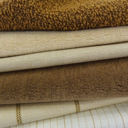 Place Textiles Collection - Delicious nut browns are combined with creamy whites to create a versatile scheme that includes lamb's wool and linen, alpaca velvet and a textured and durable wool boucle.  More colors available.