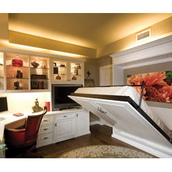 Calgary Custom Closets Murphy Bed - Murphy beds can be stylish. I really like how this built-in extends.