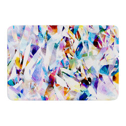 "KESS InHouse - Gabriela Fuente ""Buzz"" Memory Foam Bath Mat (24"" x 36"") - These super absorbent bath mats will add comfort and style to your bathroom. These memory foam mats will feel like you are in a spa every time you step out of the shower. Available in two sizes, 17"" x 24"" and 24"" x 36"", with a .5"" thickness and non skid backing, these will fit every style of bathroom. Add comfort like never before in front of your vanity, sink, bathtub, shower or even laundry room. Machine wash cold, gentle cycle, tumble dry low or lay flat to dry. Printed on single side."