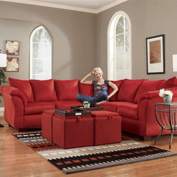 Signature Design By Ashley Loveseat Sectional Red