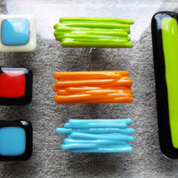 Bespoke Fused Glass Cupboard and Door Handles by Lola's Little Studio - Turn a plain dresser or wardrobe into something special with these Bespoke Fused Glass Cupboard Handles.
