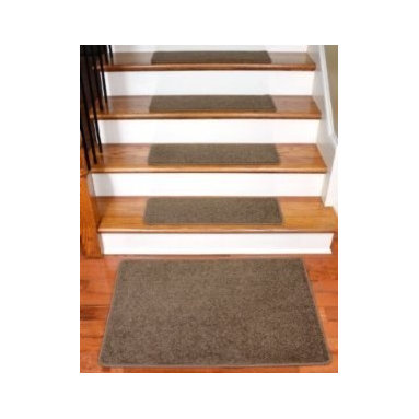 "Dean Flooring Company - Dean Rich Earth Plush Carpet Stair Tread Rugs 27"" x 9"" (13) Plus 2' x 3' Mat - Dean Flooring Company Rich Earth Plush Carpet Stair Tread Rugs 27"" x 9"" (13) Plus Landing Mat : Imperial Carpet Stair Treads with Landing Mat by Dean Flooring Company Color: Cafe Color Matching Finished (Serged with Yarn) Edges with Rounded Corners. Set includes 13 pieces plus a matching 2'x3' landing mat. Each tread measures approximately 27"" x 9"". Also easy to spot clean and vacuum. Helps prevent slips on your hardwood stairs. Great for helping your dog easily navigate your slippery staircase. Reduces noise. Reduces wear and tear on your hardwood stairs. Attractive: adds a fresh new look to your staircase. Easy DIY installation with double sided carpet tape (included). Made from attractive, comfortable cut pile residential carpeting. Matches our peel and stick carpet tiles. Made in the USA! Add a touch of warmth and style to your home today with stair treads from Dean Flooring Company!"