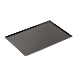 Paderno World Cuisine - 23 5/8 in. by 15 3/4 in. Straight Sided Silicone Baking Sheet - This 23 5/8 long by 15 3/4 wide straight sided silicone baking sheet provides a non-stick surface and is extremely durable. It is made of aluminum and is covered with silicone. It is suitable for sugar, chocolate, viennoiserie and confectioner work, as well as cookies and cakes.