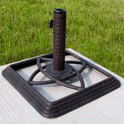 Cast Iron Square Umbrella Base - The Cast Iron Square Umbrella Base is the finishing piece you've been searching for to complete your outdoor patio collection. With a universal design, this cast iron umbrella base will coordinate with virtually any outdoor metal patio set.