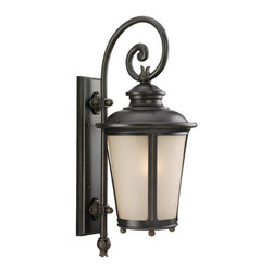 Sea Gull Lighting - Sea Gull Lighting 88242-780 Cape May Traditional Outdoor Wall Sconce - A regal, traditionally scaled and shaped lantern collection. Design elements include leaf ornamentation, scrolling arms and a finish and glass combination that offer a warm welcome.