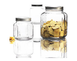 Anchor Hocking 3-Piece Canister Set - I use these canisters for many different purposes, not just for storing food. They are great for things like small bath items, laundry soap and dog treats too.