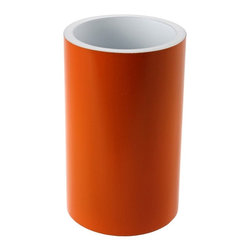 Gedy - Free Standing Orange Round Tumbler - Complete your designer personal bathroom with this quality bathroom tumbler from Gedy. This modern, extremely high quality tumbler/toothbrush holder is made in and imported from Italy with resin and available in orange. From the Gedy Piccollo collection.