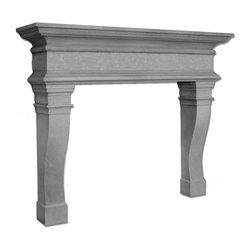 Distinctive Mantel Designs - Camden Mantel, Sahara, 78 - The Camden mantel is a larger size transitional mantel with a bold presence.  The large sweep of the shelf gives the Camden its substance, while the wide profile of the legs ensure that is visually grounded.  The classic, transitional lines make the Camden at home in any transitional decor.  The Camden is the perfect complement to any larger fireplace.