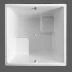 """Kohler - Kohler K-1968-0 White Underscore Drop In Cube Soaking Bath Tub from - Tub Features:Kohler bathtubs are fully covered under warranty for up to a year after installationTub is constructed from an Acrylic material making it strong and flex resistantUnderscore features a simple, crisp design that exudes understated style with a contemporary flairInstalls in a Under-mount or Drop-In configurationProduct Meets or Exceeds the Following Codes and Standards: CSAPair this bath with other products from the Underscore Collection for a coordinated elegant look in the bathroomProduct Technologies and Benefits:Material - Acrylic - A strong, flex resistant material with a smooth finish that resists chipping and cracking, as well as being easy to clean.Tub Specifications:Overall Height: 34"""" (measured from the top of tub rim to the bottom of basin)Overall Width: 48"""" (measured from back most to front most point on outer rim)Overall Length: 48"""" (measured from left most to right most point on outer rim)Basin Width (Bottom): 39-3/8"""" (back to front measurement of the bottom of basin walls)Basin Length (Bottom): 39-3/8"""" (right to left measurement of the bottom of basin walls)Basin Width (Top): 44-5/8"""" (back to front measurement of the top of basin walls)Basin Length (Top): 44-5/8"""" (right to left measurement of the top of the basin walls)Water Depth: 27-1/2"""" (depth of water at tub s maximum capacity)Maximum Water Capacity: 171-gallonsDrain Location: CenterDrop-In Cutout Required: 47"""" X 47""""Variations On This Tub:K-1968: This modelK-1968-W1: This model + Bask technologyAbout Kohler:Gracious living is characterized by qualities of charm, good taste, generosity of spirit and the enhancem"""