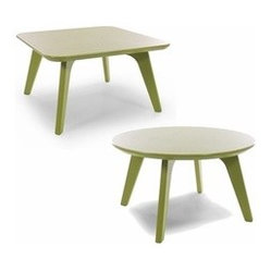 Loll Designs | Satellite 26-Inch End Tables, Round + Square