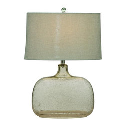 Bassett Mirror - Portman Clear Seeded Glass Table Lamp - Portman Clear Seeded Glass Table Lamp by Bassett Mirror