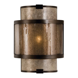 Fine Art Lamps - Fine Art Lamps 590550ST Singapore Moderne Patinated Bronze Coupe - 1 Bulb, Bulb Type: 60 Watt Candelabra; Weight: 8lbs